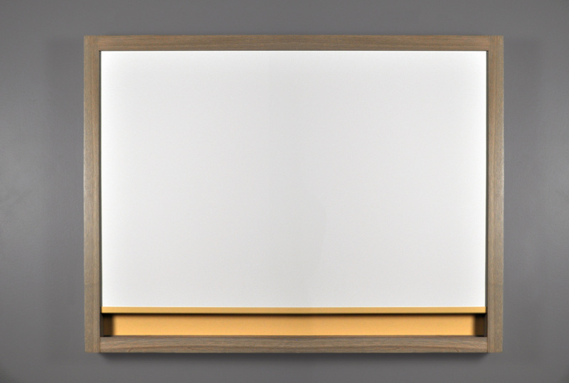 MIX Wall Mounted Markerboard w/ LCS3 Porcelain and Driftwood Stain