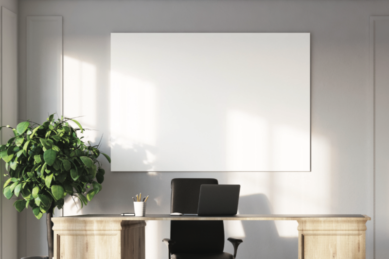 PROFILE SERIES Frameless LCS3 Porcelain Markerboard