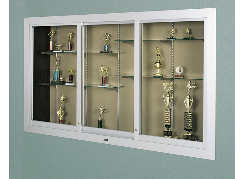390 SERIES - Large Door Recessed Aluminum Display Case
