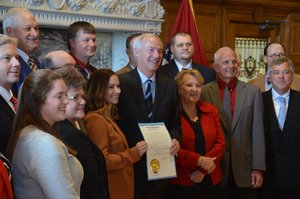 Governor Hutchinson Declares October Pork Month