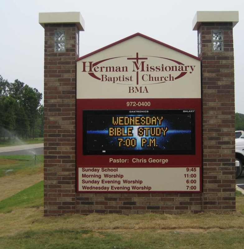Monument Signs Cupples Sign Company Paragould Arkansas