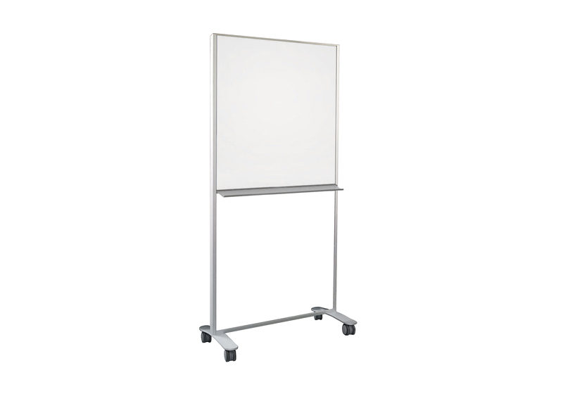 CONNECT X2 MOBILE - Partial Height, Double-Sided Markerboard & Tackboard