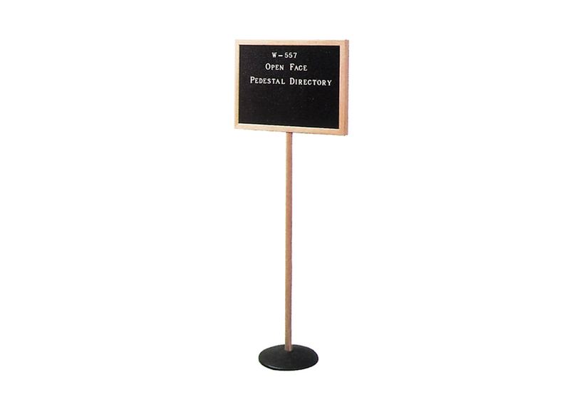 PEDESTAL DIRECTORY - W557 Open Face Standing Directory