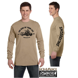 WITH SLEEVE LOGO: Long Sleeve Spyder Extras Ride of your life F3 VERSION