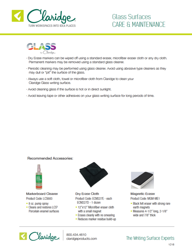 Glass Care & Maintenance