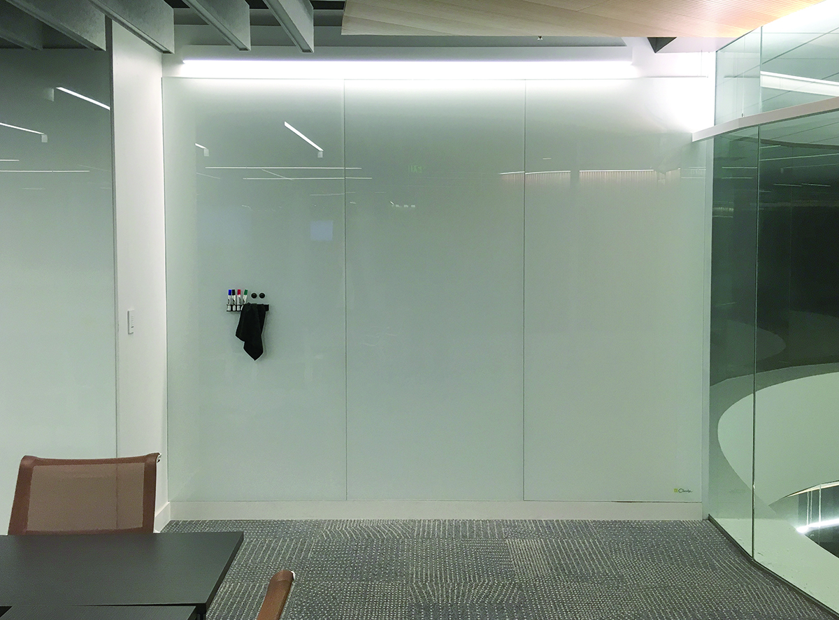 CLARIDGE GLASS MARKER WALLS - Full & Partial Height Dry Erase Marker Walls