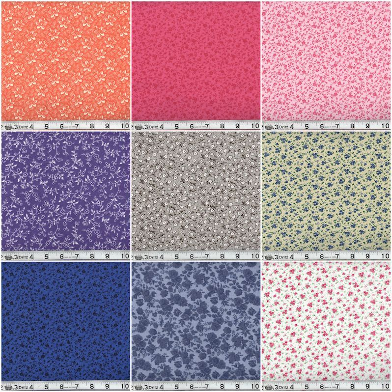 PRICE DROP!!!!! MDG Quilters Calicos by the Bolt $1.95 Per Yard!!!!!!!!!