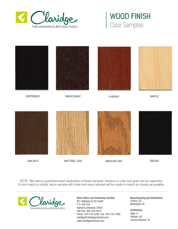 Wood Finish Color Options