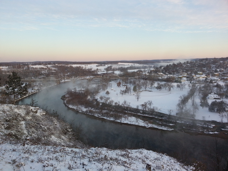 SNOWY MORNING ON THE WHITE RIVER