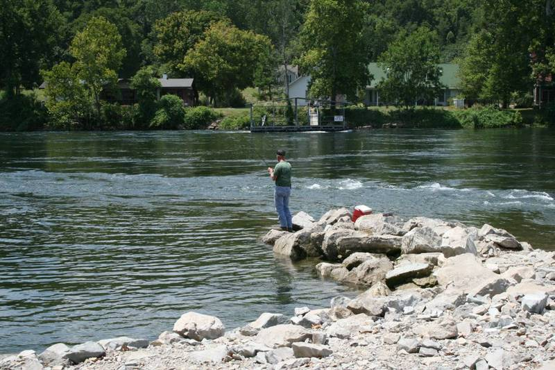 SHORE FISHING IN THE WHITE RIVER