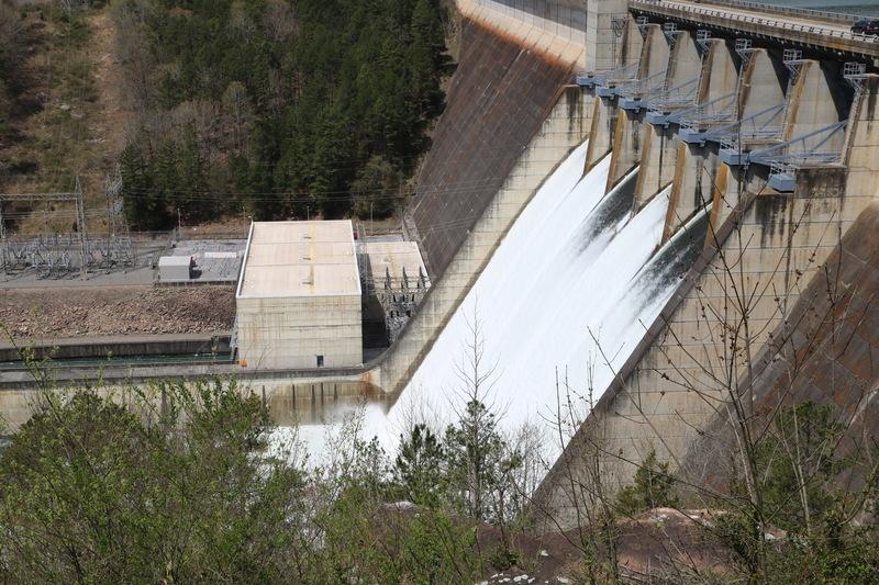 Greers Ferry Dam Flood Gates