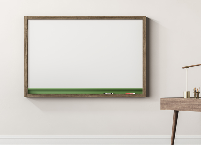 MIX Contemporary Wall-Mounted Markerboard & Tackboard