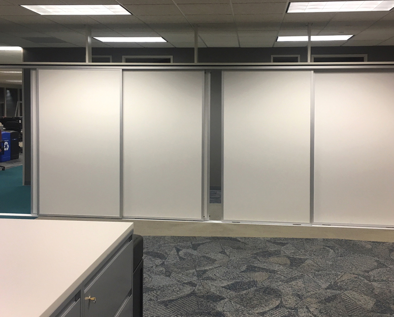 Horizontal Sliding Walls - LCS3 Porcelain Marker Walls