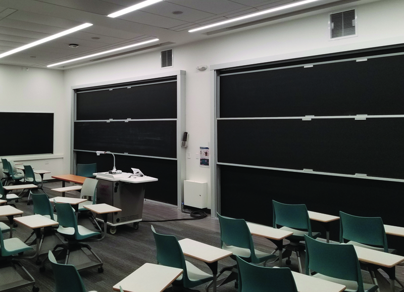 Vertical Sliding Units-LCS3 Porcelain and NP3 Chalk Boards