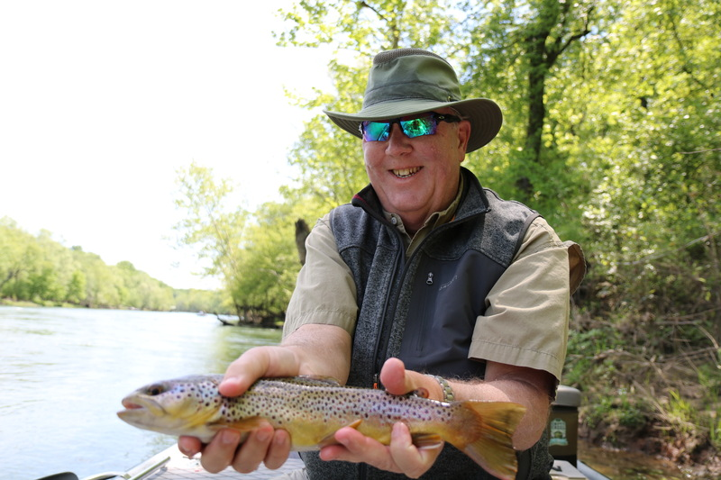John with a dandy Brown Trout.