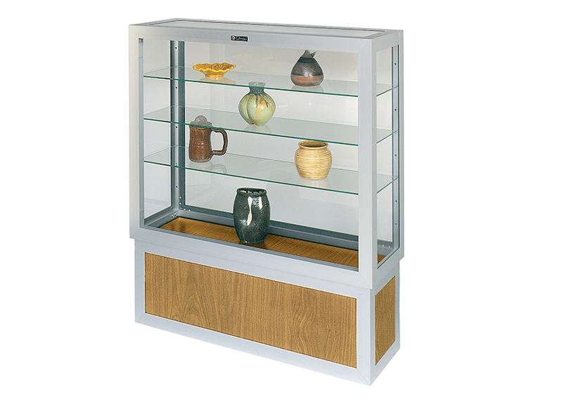 332 Wood Base Freestanding Display Case