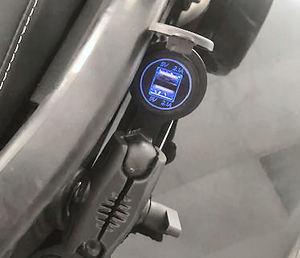CAN-AM SPYDER 12 VOLT REAR USB POWER STATION SF3-RUSB