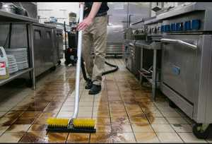 Floor Cleaning with Kaivac Machine