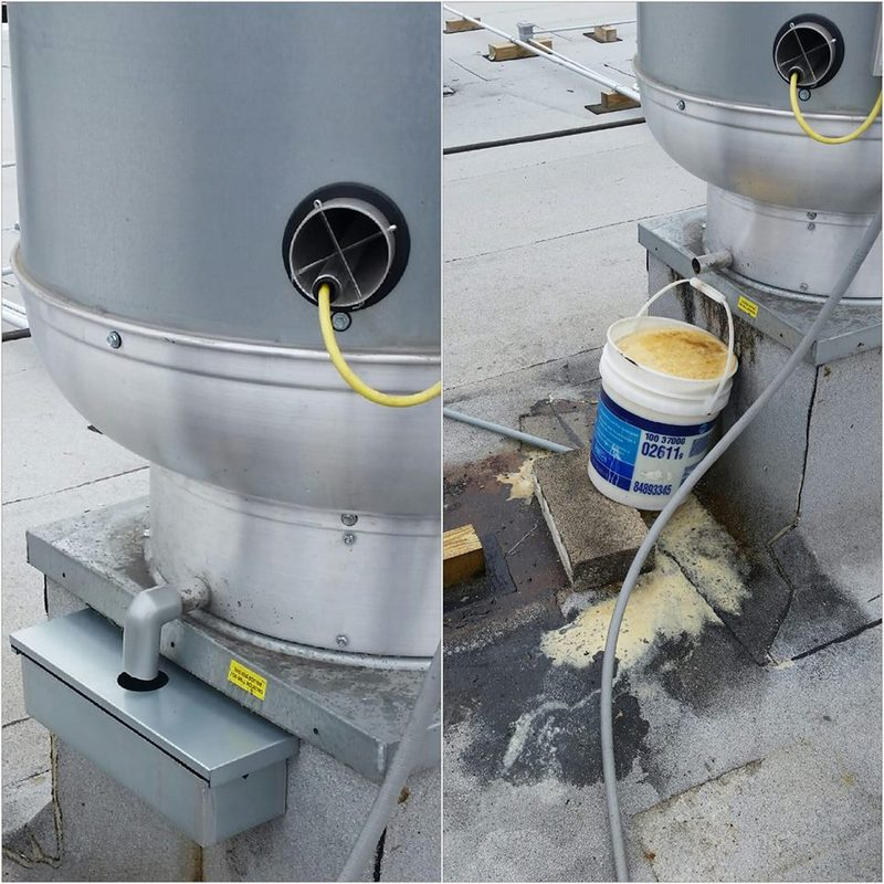 Before/After Cleaned Grease Containment System