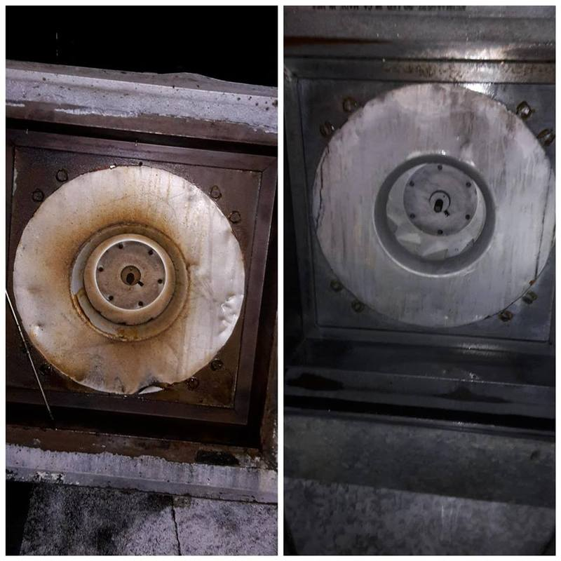 Before/After Cleaned Roof Fan