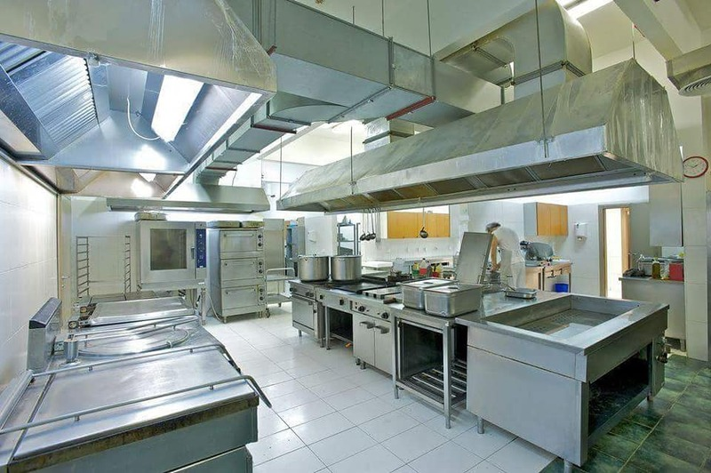Cleaned Commercial Kitchen
