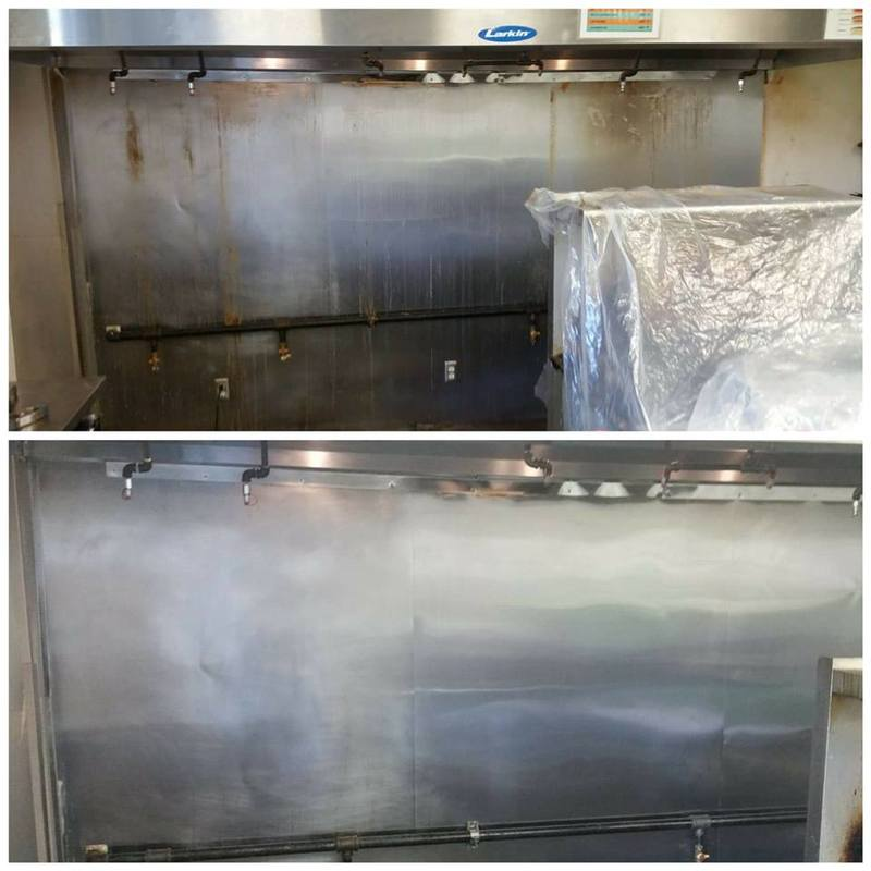 Before/After Cleaned Stove Backsplash