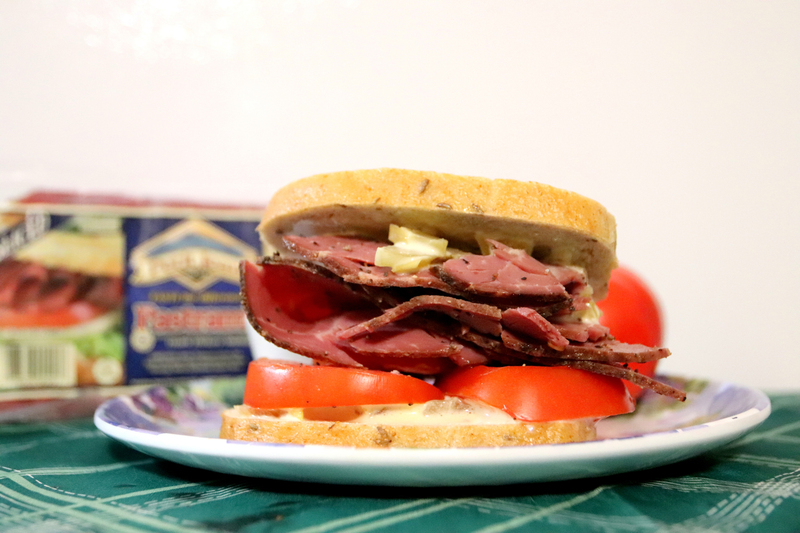 Pastrami And Pinks Sandwich With Green Tomato Chip Mayo