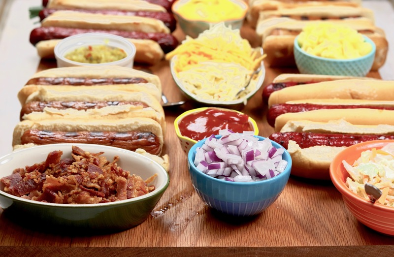 Hot Dog Charcuterie Board