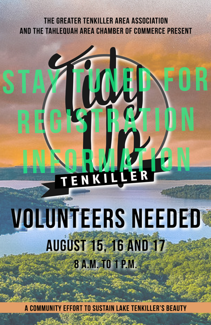 Lake Tenkiller Cleanup August 15-17