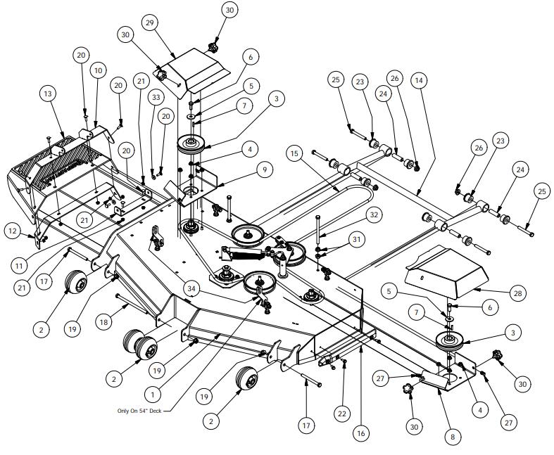 srt4 belt diagram 54  deck assembly 1 xtreme motors butler  missouri  54  deck assembly 1 xtreme motors