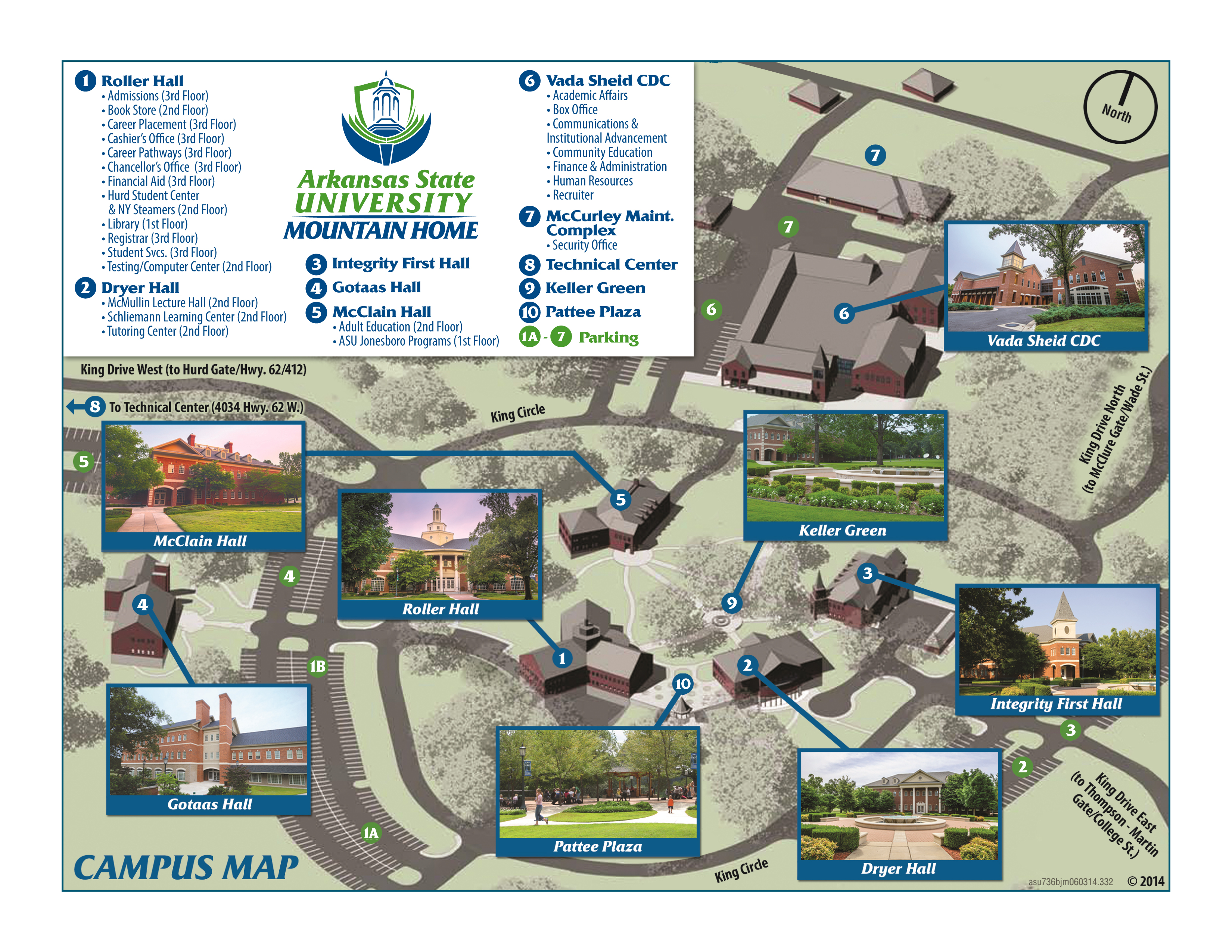Campus Map Arkansas State University Mountain Home Ar