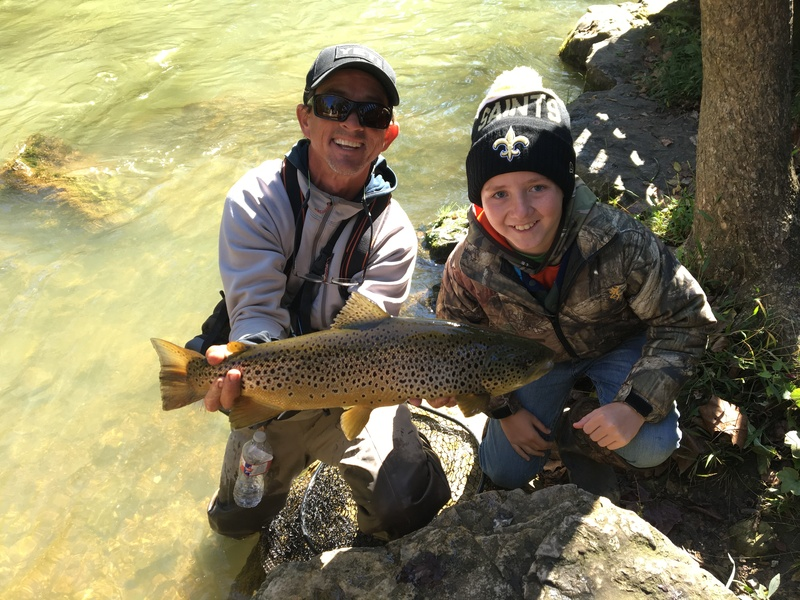 The White River Inn, A trophy White River rainbow trout of 24 inches and 5 lbs.