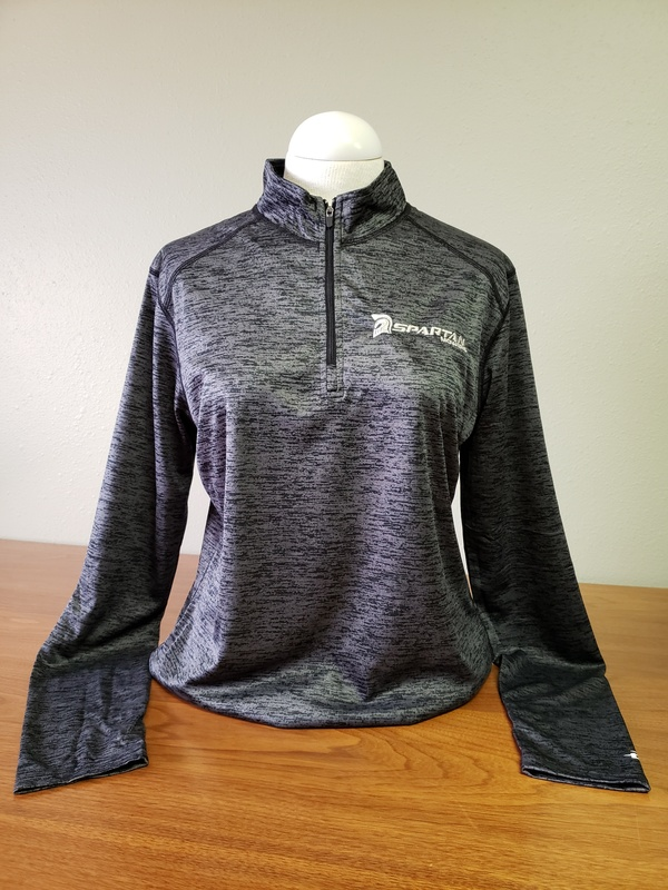 SPARTAN LADIES TONAL BLEND 1/4 ZIP PULLOVER- GRAY