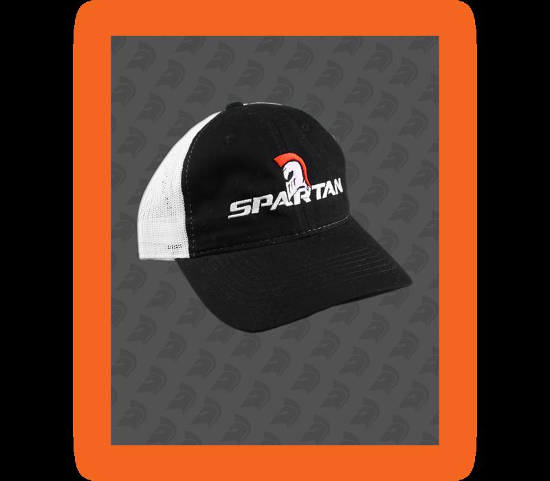 SPARTAN VELCRO CAP - BLACK/WHITE