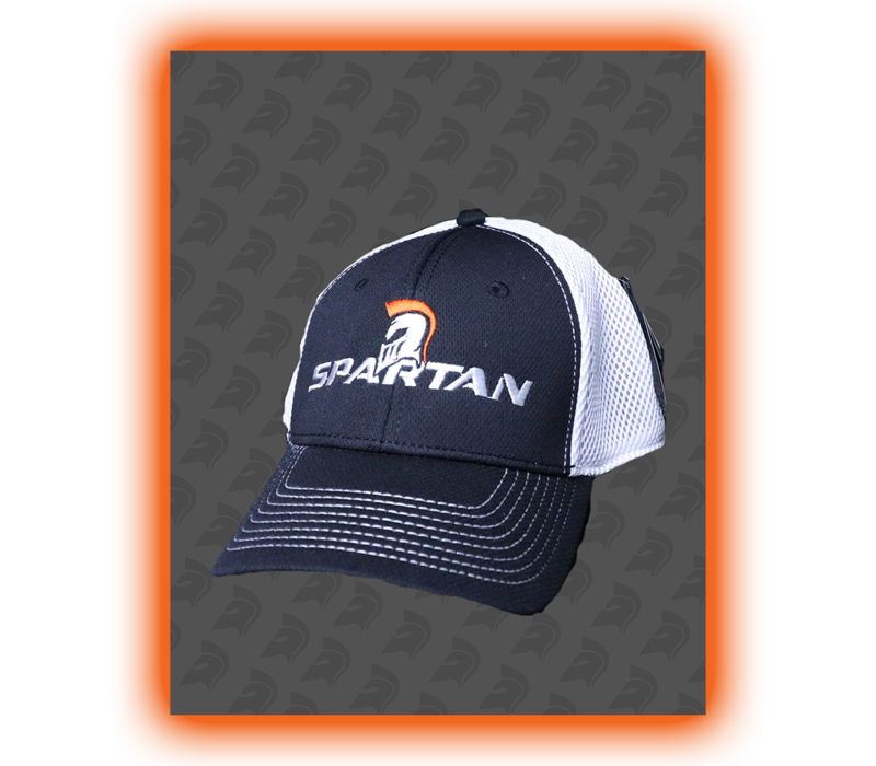 SPARTAN FLEX CAP - BLACK/WHITE