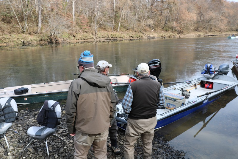 Six guide boats and twelve anglers.
