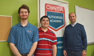Three ASUMH students receive CompTIA A+ certification