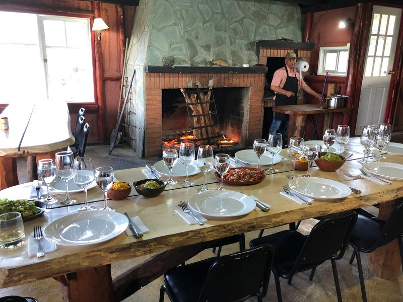 Amazing dinner at Estancia del Zorro.