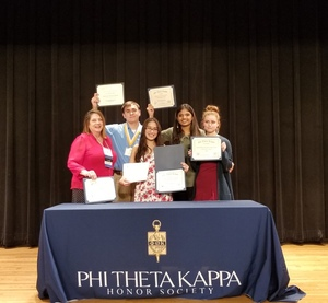 Members of the Beta Iota Epsilon Chapter of Phi Theta Kappa Bring Home Awards