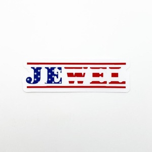 Jewel Linear American Sticker