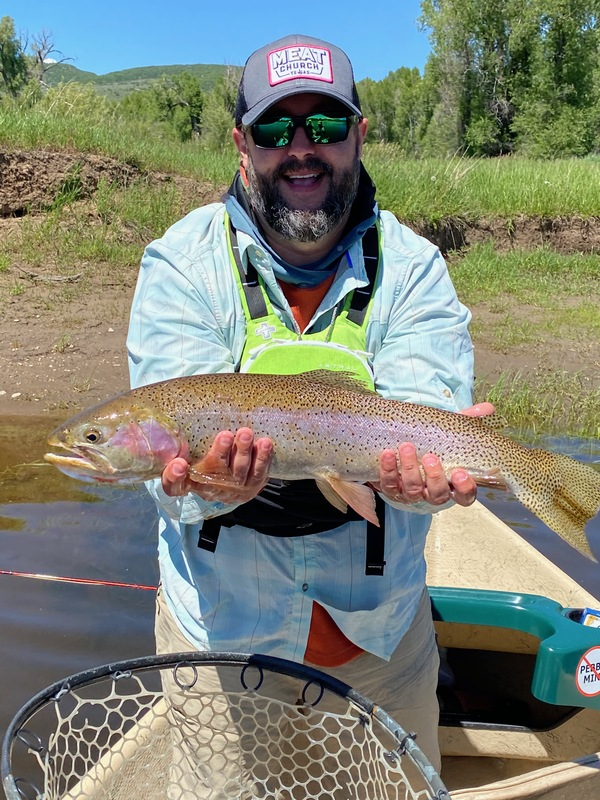 Trent with a beautiful Yampa Cutthroat