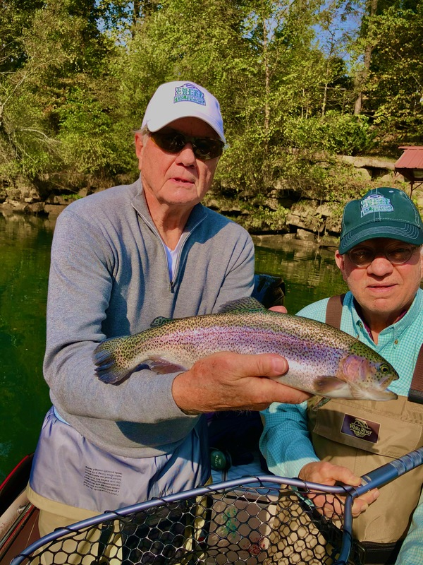 Dave and Bill from St. Louis with a dandy Little Red Rainbow