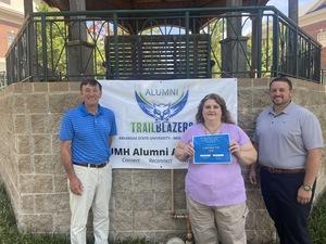 Lorynda Tye receives $500 scholarship from ASUMH Alumni Association