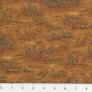 Fabri-Quilt Jungle Party 112 29582 Blue Zebra  Cotton Fabric
